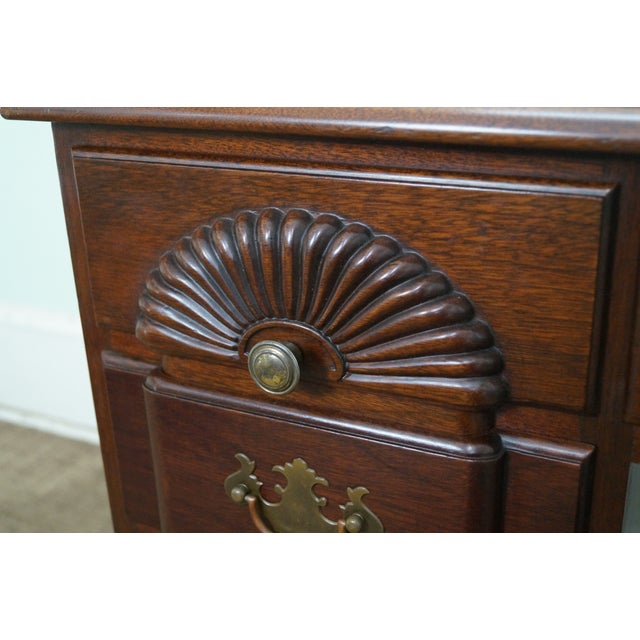 Vintage Mahogany Chippendale Style Writing Desk - Image 6 of 10