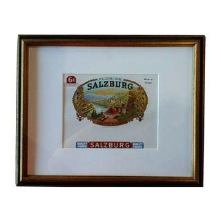 Custom Framed Salzburg Cigar Box Label