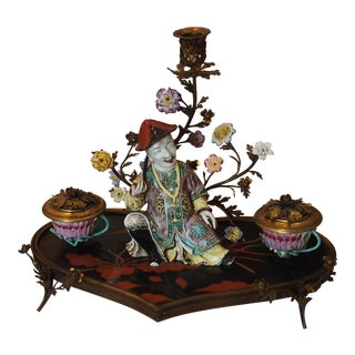 Louis XV Style Chinoiserie Inkwell