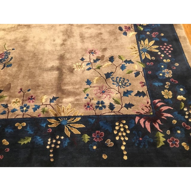 Antique Chinese Art Deco Rug - 10′2″ × 13′5″ - Image 5 of 6