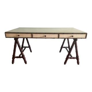 Refined Williams Sonoma Home Rattan Desk