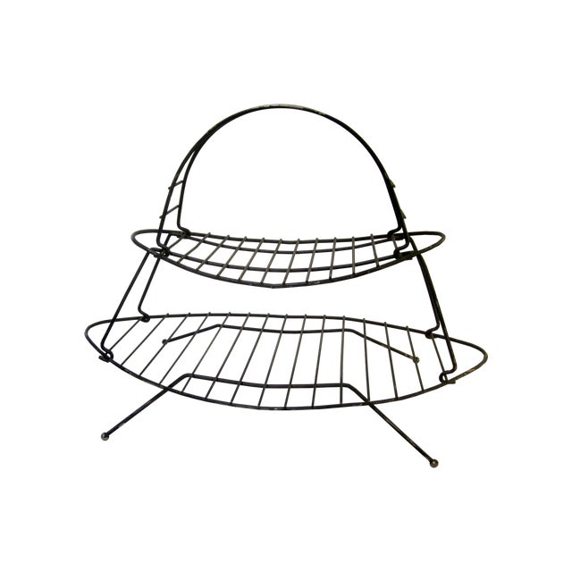 Mid-Century Modern Modernist Wire Magazine Rack - Image 1 of 6