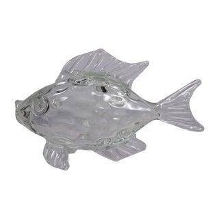 Large Hand Blown Murano Art Glass Fish