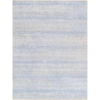 "Pasargad Transitional Bamboo Silk & Wool Area Rug - 9'1"" X 12'2"""