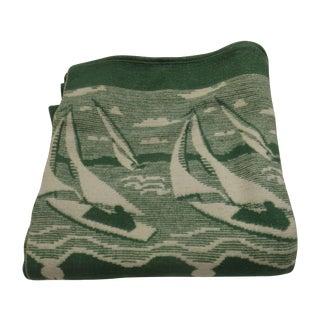 Sailboat Cotton Vintage Blanket