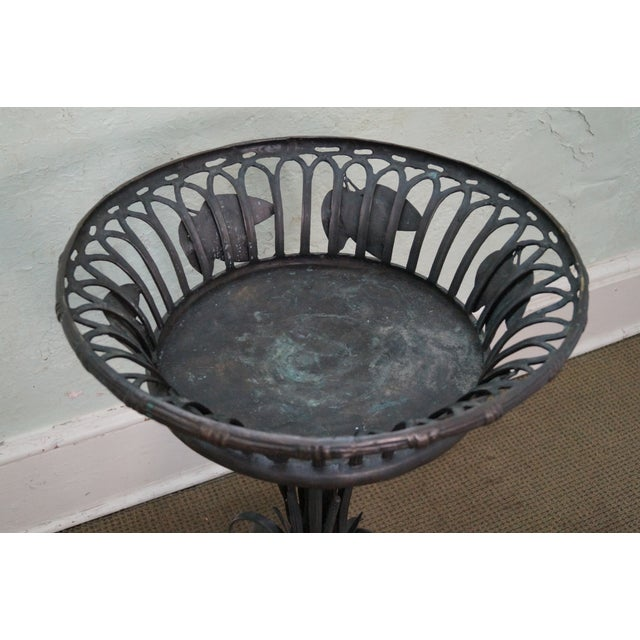 Maitland Smith Large Bronze Pedestal Planter - Image 10 of 10