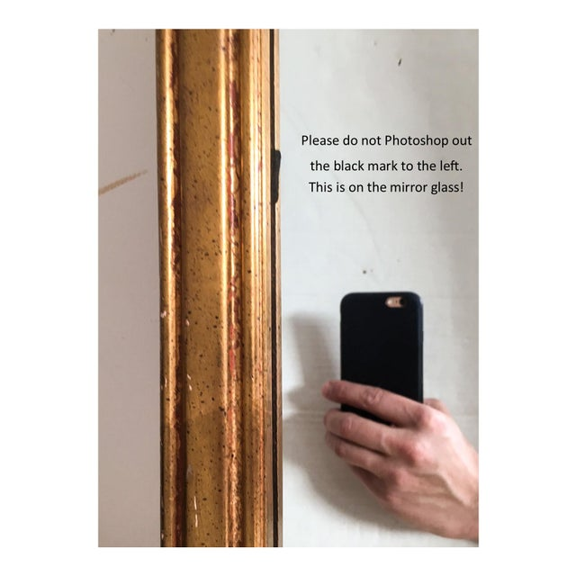 Vintage Italian Gilded Wood & Iron Mirror - Image 8 of 11