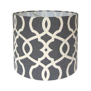 Pewter Custom Drum Lamp Shade
