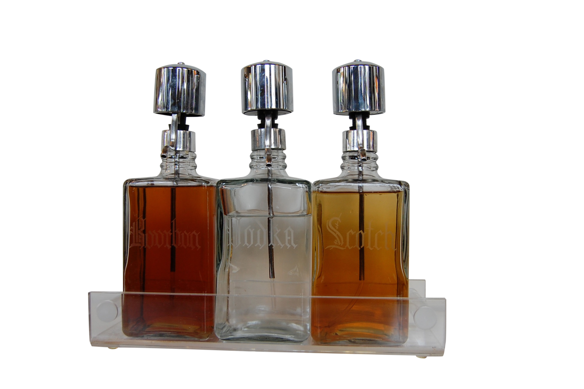 Image of Vintage Liquor Decanters - Set of 3
