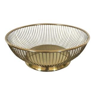 Gold Metal Italian Bread Basket