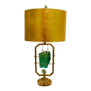 Glass Rock Table Lamp