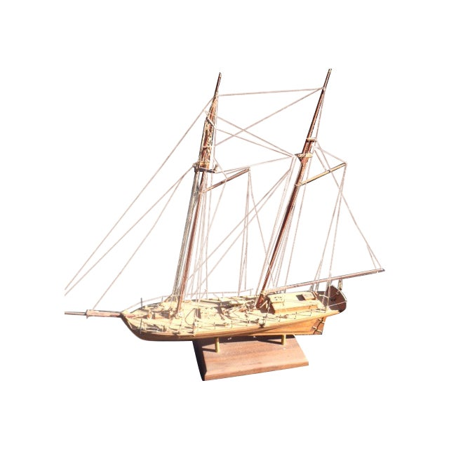 Wood Model Boat - Image 1 of 10