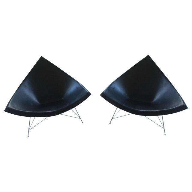 George Nelson Leather Coconut Chairs by Vitra-Pair - Image 1 of 5