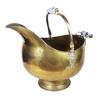 Antique Dutch Brass Coal Scuttle
