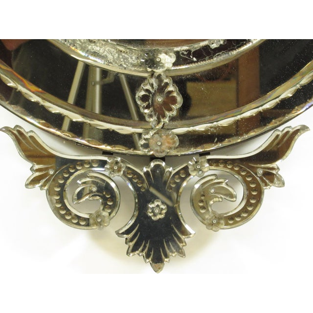 Venetian Cut Glass Wall Mirror - Image 4 of 8