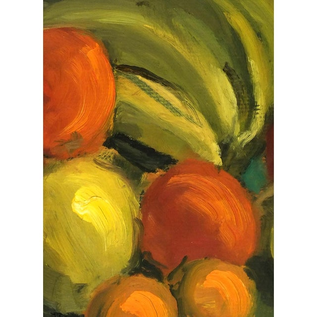 Vintage 1968 Cornucopia Oil Painting - Image 2 of 3