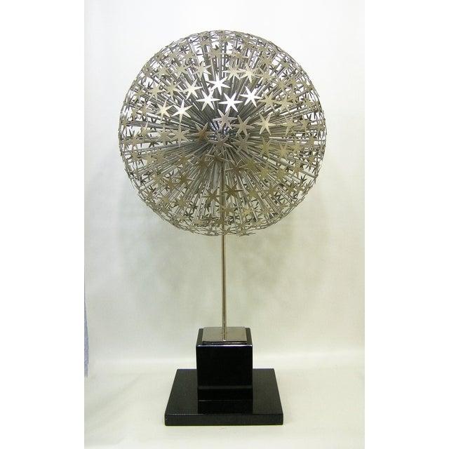 Global Views Metal Sculpture: Global Views Modern Dandelion Jere Style Sculpture