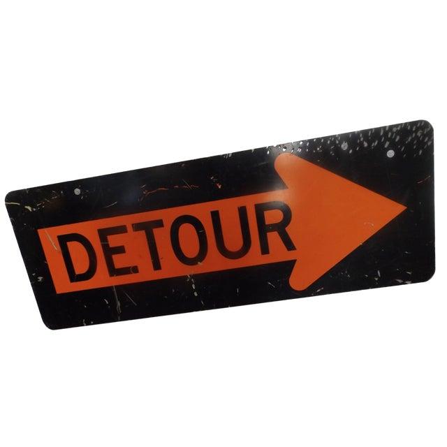 Vintage 'Detour' Sign - Image 1 of 5
