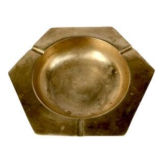 Mid-Century Modern Brass Octagonal Ashtray