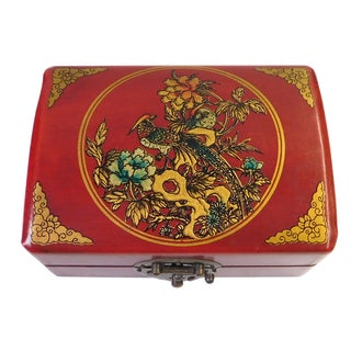 Oriental Red Scenery Rectanuglar Decor Box
