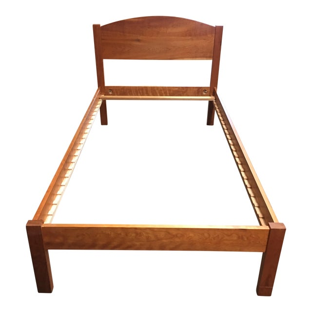 Richard Bissell Solid Cherry Twin Bed - Image 1 of 8