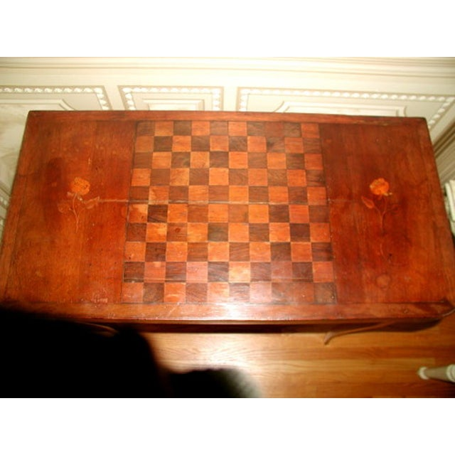 C.1850 French Game Table Inlaid Walnut Fruitwood - Image 4 of 10