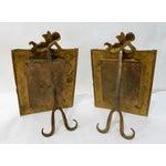 Image of Antique Bronze Cherub Picture Frames - a Pair