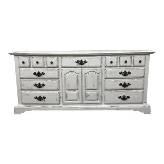 White Chalk Painted Shabby Chic Dresser