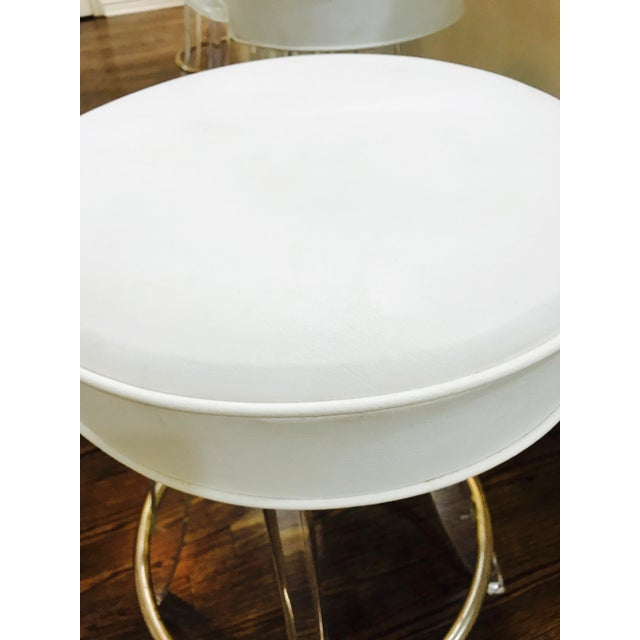 Vintage Lucite Acrylic Fan Back Bar Stools - Set of 4 - Image 8 of 9