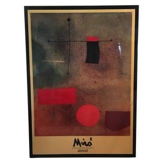 "Joan Miro ""Abstrait"" Wood Mounted Print, 1989"