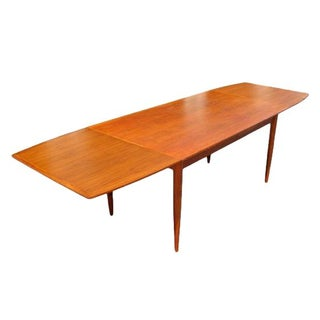 Mid-Century Solid Teak Danish Dining Table