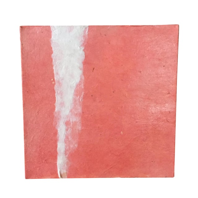 Image of Coral Mixed Media Painting Unsigned