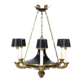 Empire Style Gilt & Bronze Chandelier
