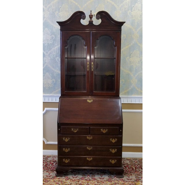 Ethan Allen Cherry Georgian Court Secretary Desk - Image 4 of 8