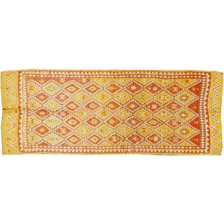 "Apadana Vintage Yellow Moroccan Rug - 4'3"" x 10'9"""
