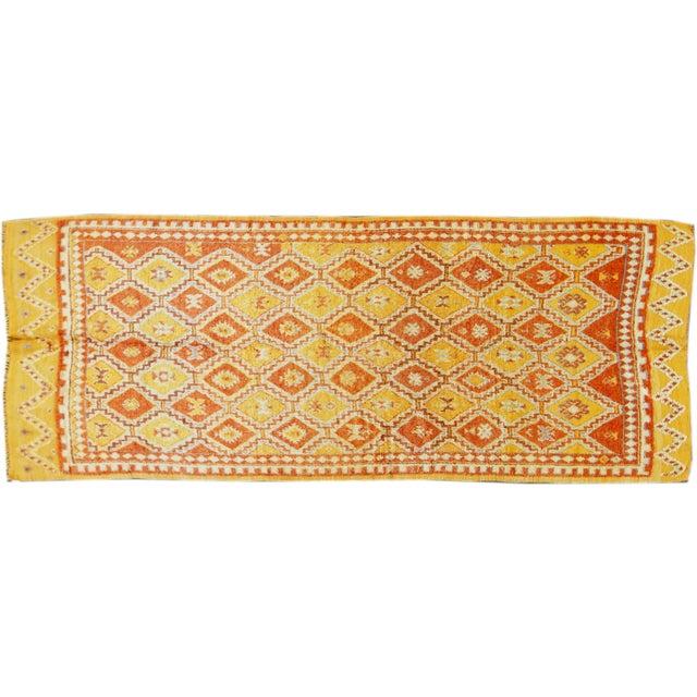 "Image of Apadana Vintage Yellow Moroccan Rug - 4'3"" x 10'9"""