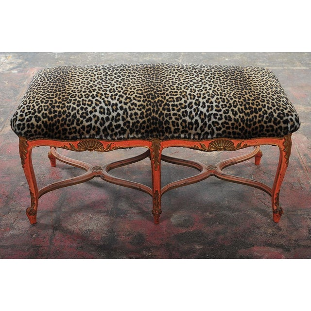 French 19th-Century Leopard Bench - Image 5 of 7