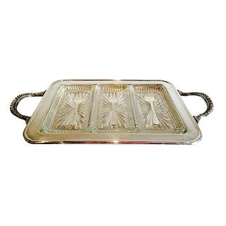 English Silver Serving Tray