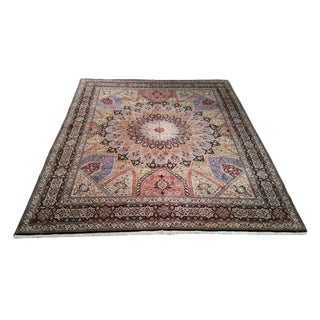 Persian Tabriz Silk & Wool Hand Made Rug - 8'2''x10'