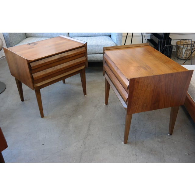Sculptural mid century bedside tables by lane chairish for 12 wide bedside table