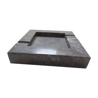 Large 70s Gray Marble Ash Tray