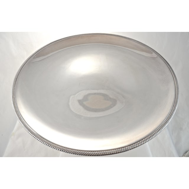 "Oversize 17"" Round Silver Tray, Circa 1950s - Image 2 of 4"