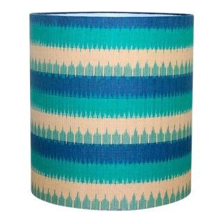Blue Ikat Drum Lamp Shade