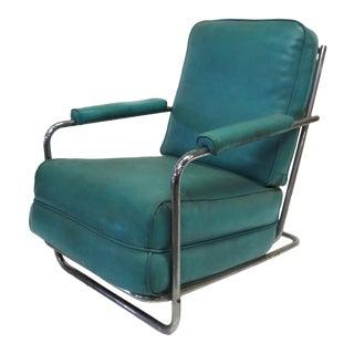 Art Deco Chrome Club Chair by Gilbert Rohde
