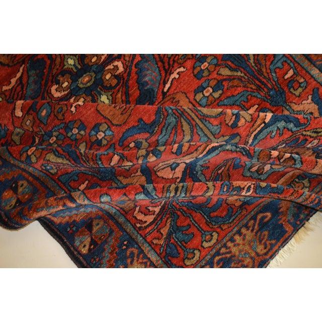 """Antique Persian Lilihan Rug - 5'5"""" x 8'9"""" - Image 6 of 6"""
