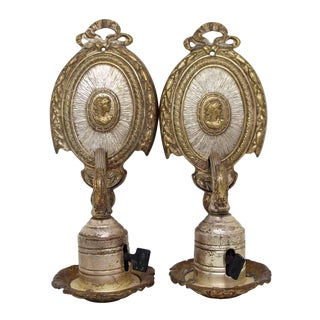 Silver Plated Brass Victorian Sconces - A Pair
