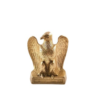 1970s Brass Eagle Paperweight Figurine