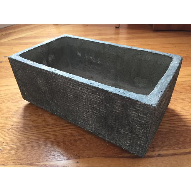Textured cast concrete planter chairish - Casting concrete planters ...