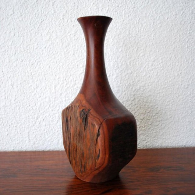 Image of Vintage Wood Bud Vase