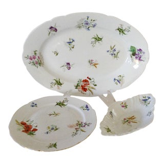 French Wildflower Serving Pieces - Set of 3